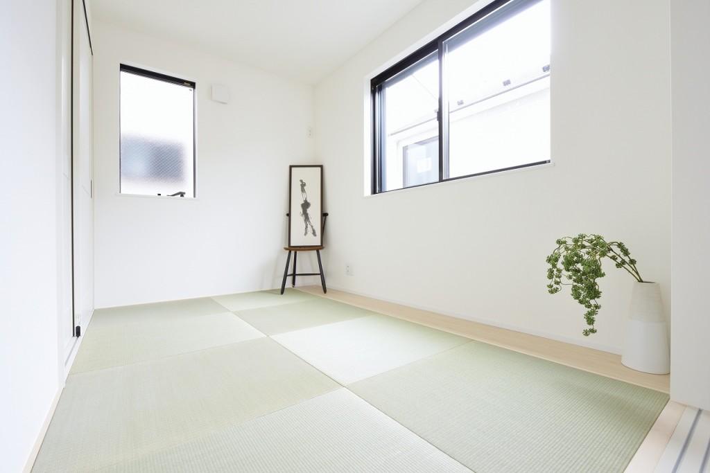 現地モデルハウス(居間)