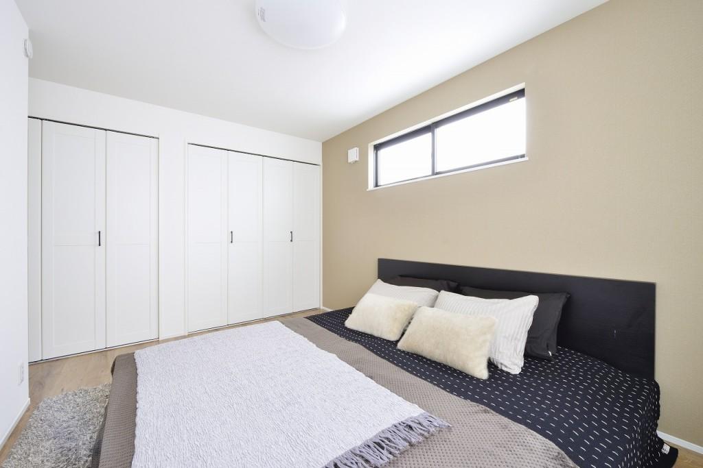 現地モデルハウス(寝室)