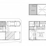 D号棟 10.5帖の広々とした洋室は、将来2部屋として利用することも可能(間取)