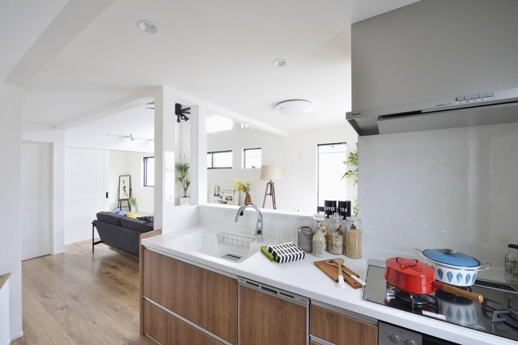 現地モデルハウス(キッチン)