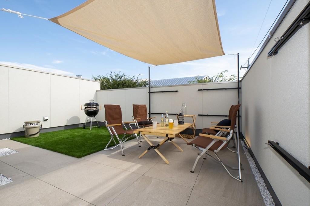 多彩な暮らしを演出する屋上庭園。
